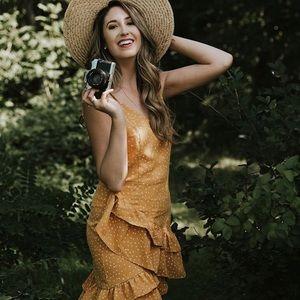 Lovely Yellow Ruffle Dress x Sugar Love Boutique